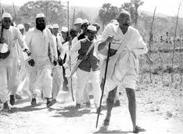 Gandhi looking for salt